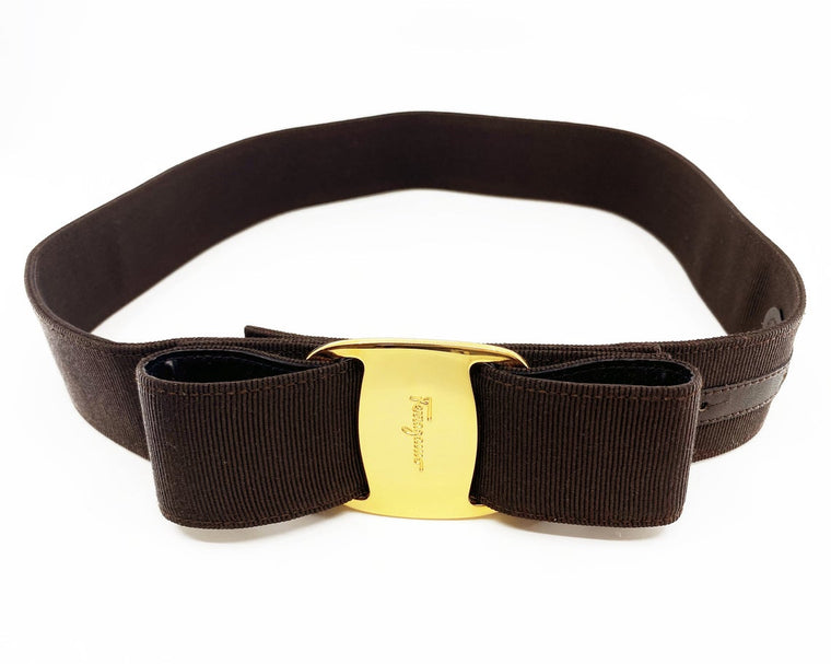 Salvatore Ferragamo Logo Bow Belt
