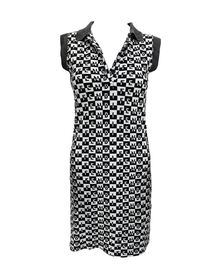 Fendi Logo Print Monogram Dress