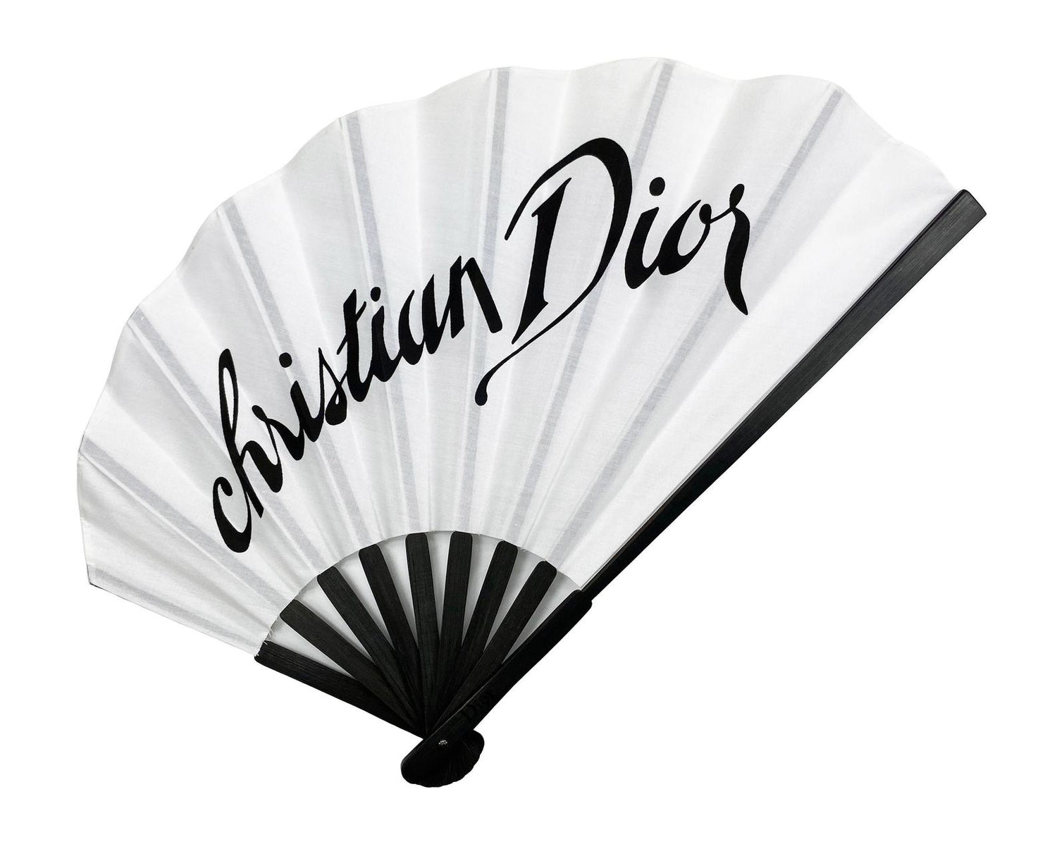 FRUIT vintage Christian Dior rare logo printed hand fan VIP gift. Perfect for use as a home decor piece or to use at a special event. As seen on Lil Kim!