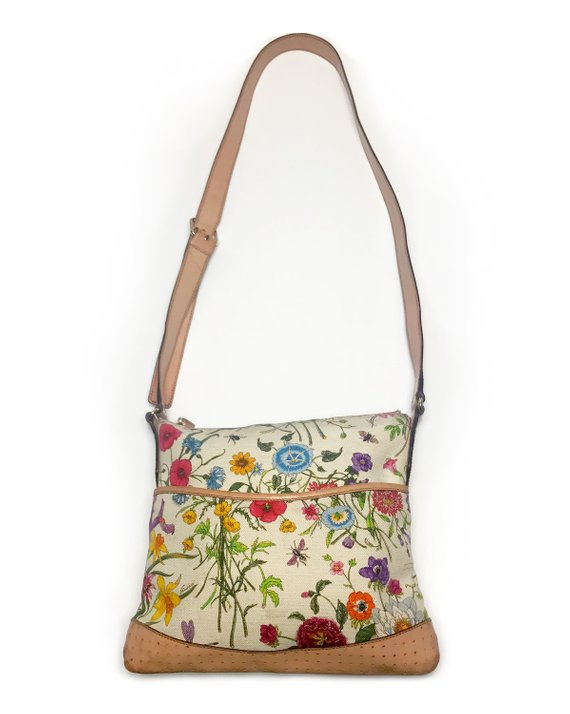 Fruit Vintage Gucci Flora print Cross body handbag purse