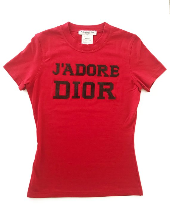 Fruit Vintage Christian Dior J'adore Dior t-shirt featuring glomesh print by John Galliano