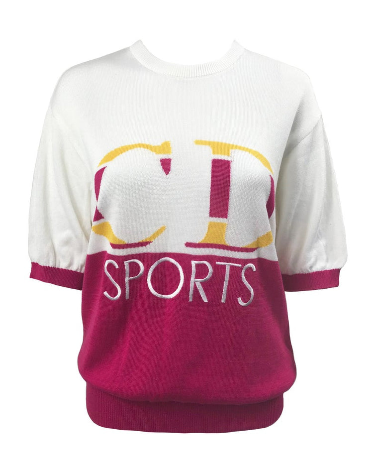 Christian Dior Sport Logo Knit Sweater Top