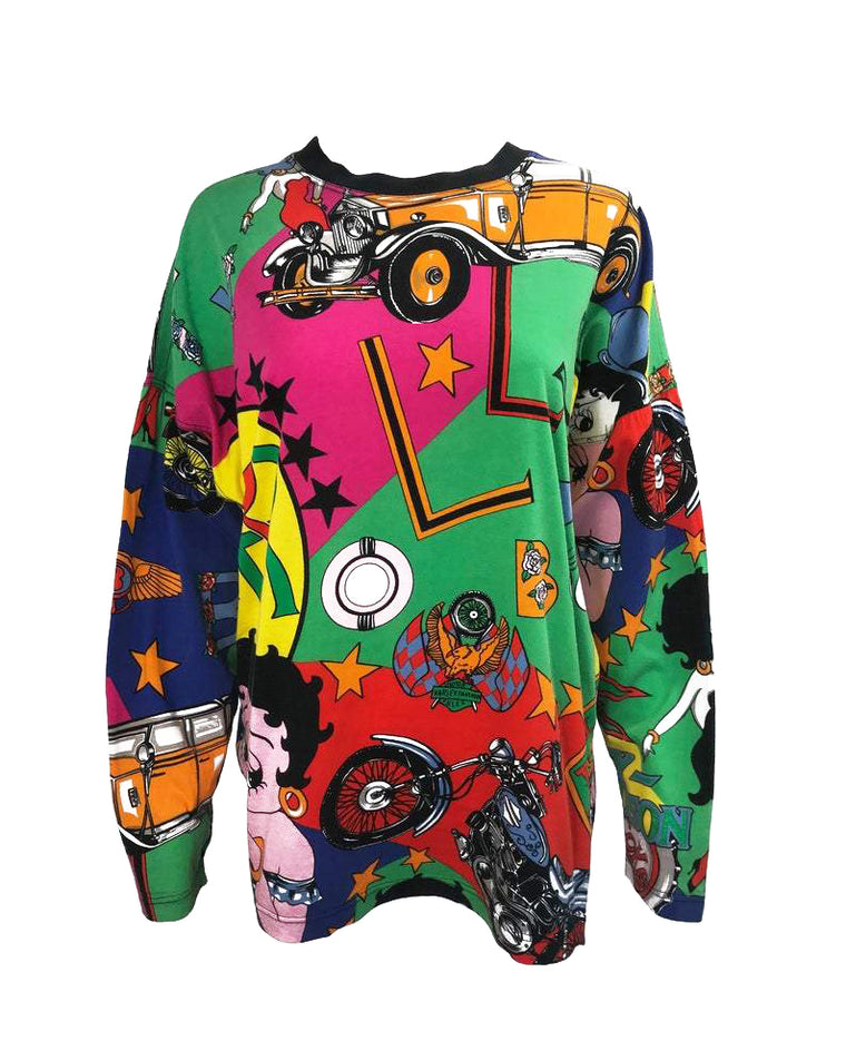 Versace Jeans Couture Betty Boop Print Sweat Shirt