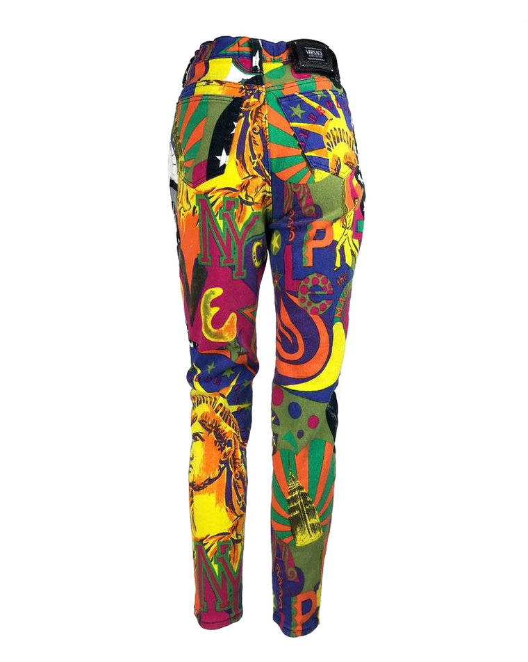 Versace Jeans New York Print Jeans