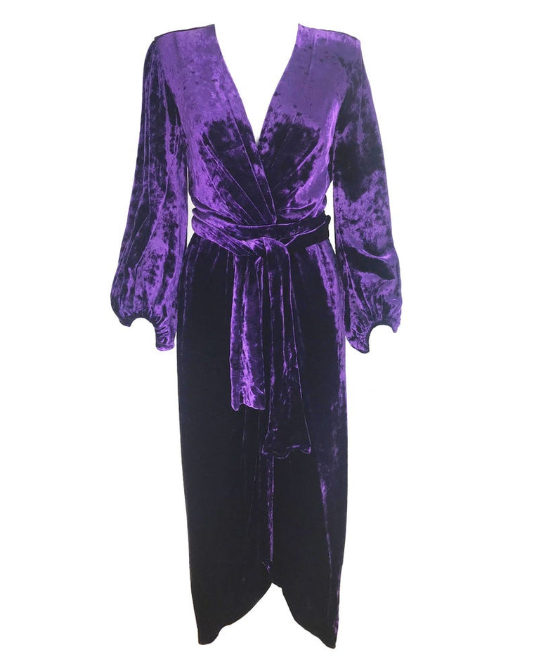 Yves Saint Laurent 1970s Velvet Gown