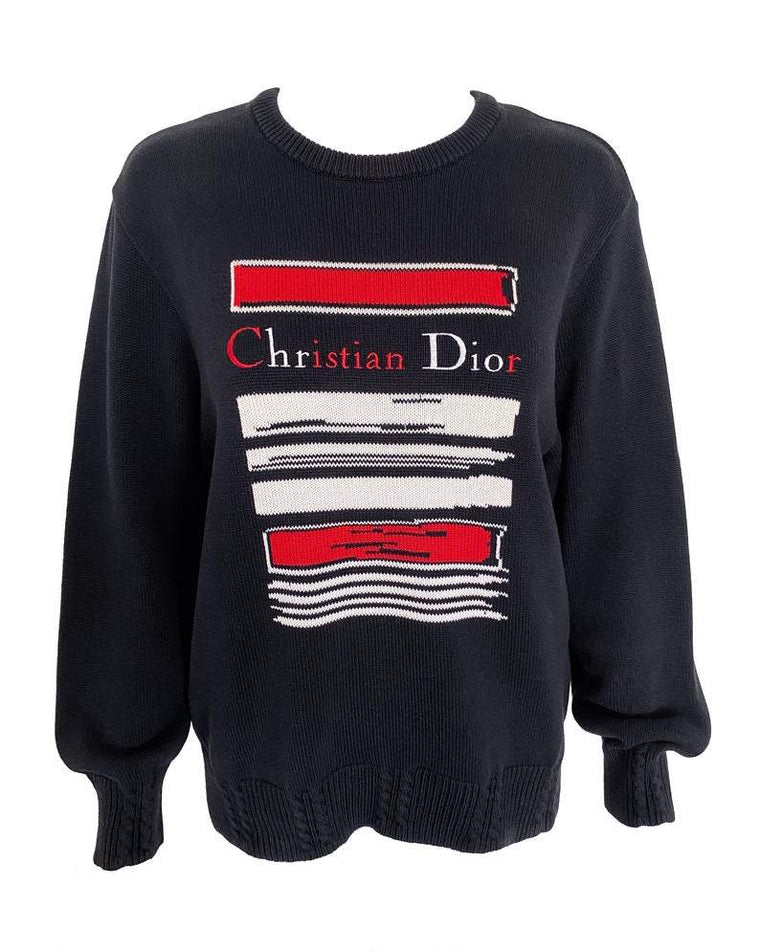 Christian Dior Sports Logo Embroidered Knit