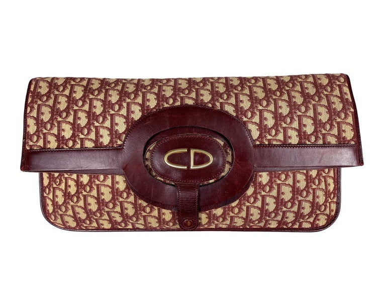 Christian Dior 1970s Convertible Foldover Clutch/Tote