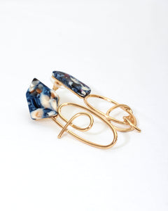 Pretty Twisted Blue Earrings