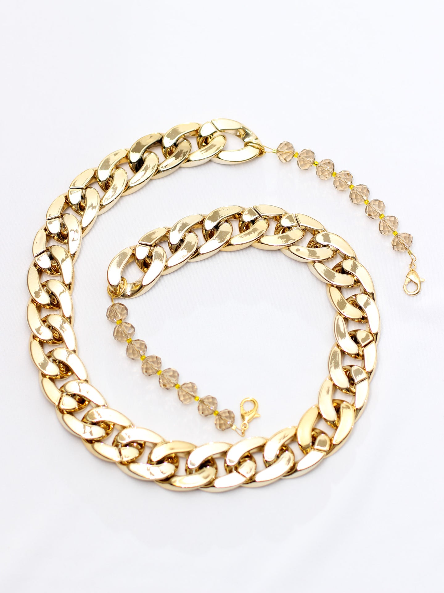 Golden Bling Face Mask Chain