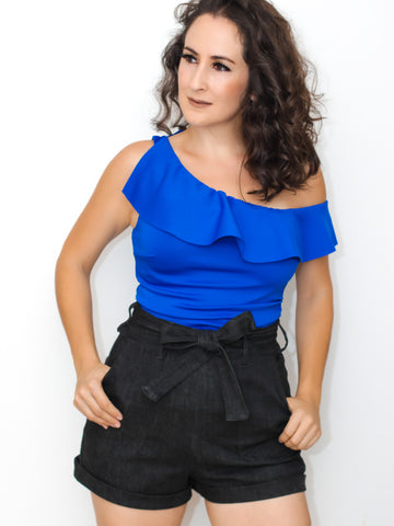 Forever Stunning Off Shoulder Top in Blue