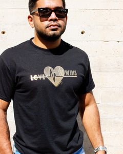 UNISEX Love Wins Graphic Black T-shirt