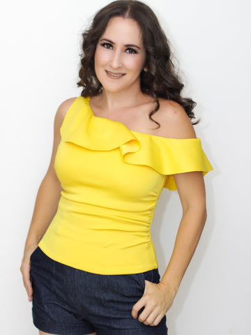 Forever Stunning Off Shoulder Top in Yellow
