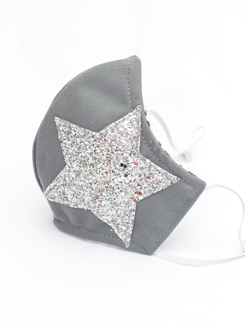 Sparkling Superstar Silver Face Mask