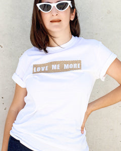 Love Me More White Graphic T-shirt