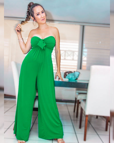 Flowy Sweetheart Green Jumpsuit