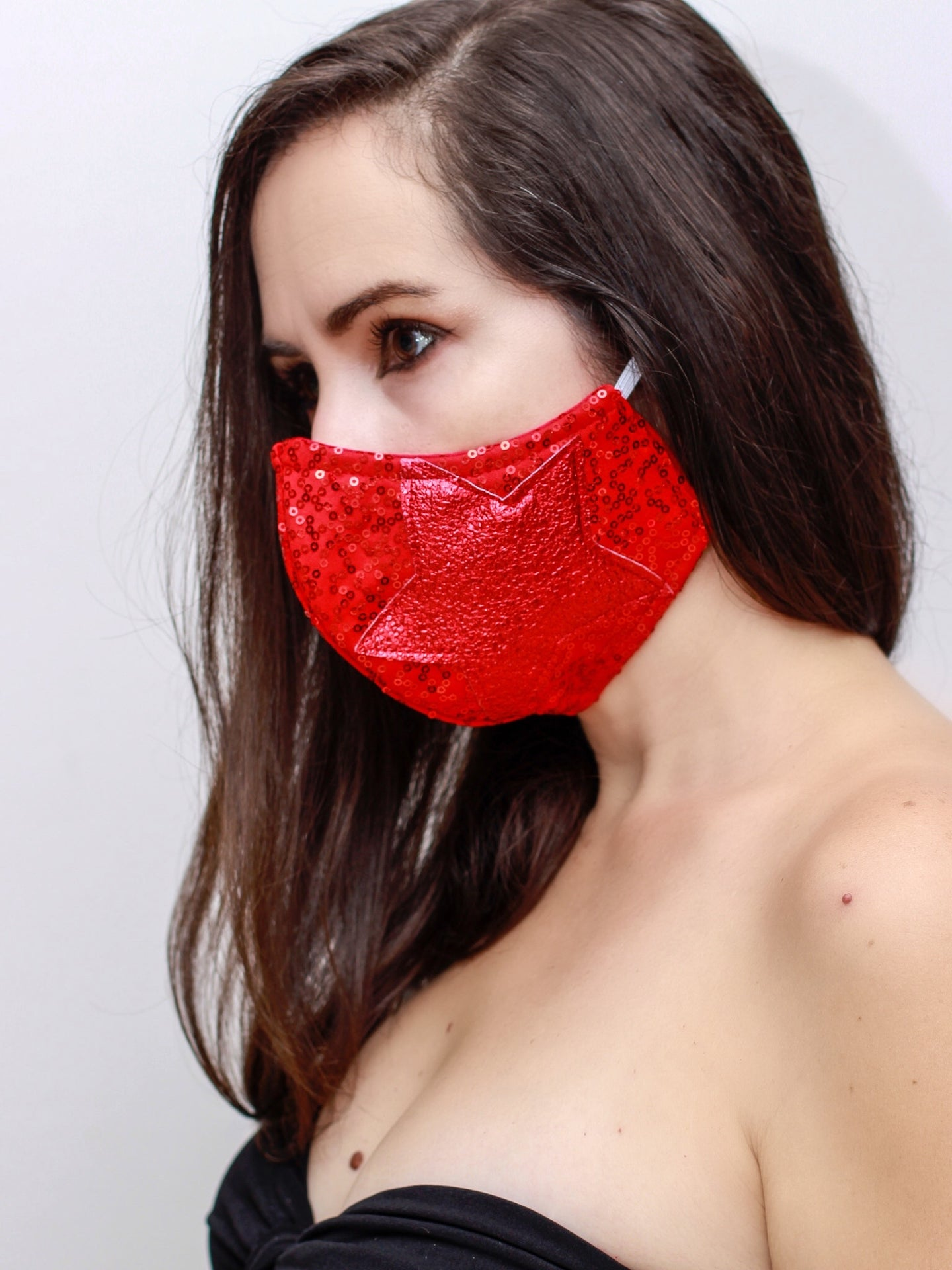 Glam Superstar-Red Face Mask