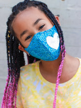 Something Glam-Turquoise & Silver GIRL Face Mask