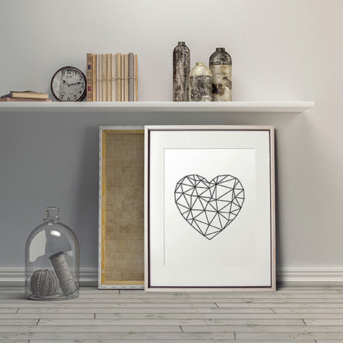 Modern Geometric Heart Wall Art.