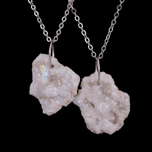 Natural Handcrafted Quartz Healing Necklcae