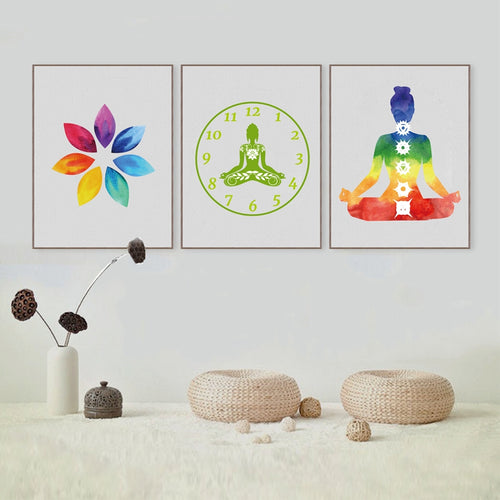 Colorful Chakra Wall Art Print Canvas Poster