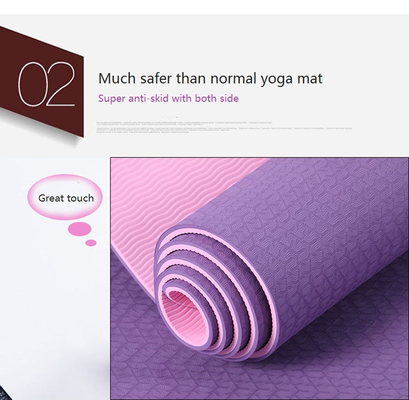 Luxury Non-slip Yoga Mat 6mm