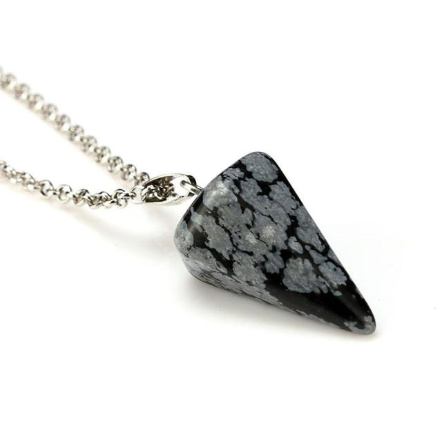 Natural Quartz Stone Hexagonal Healing Necklace