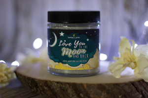Love You to the Moon and Back | Earthy Woods & Lush Rose Petals