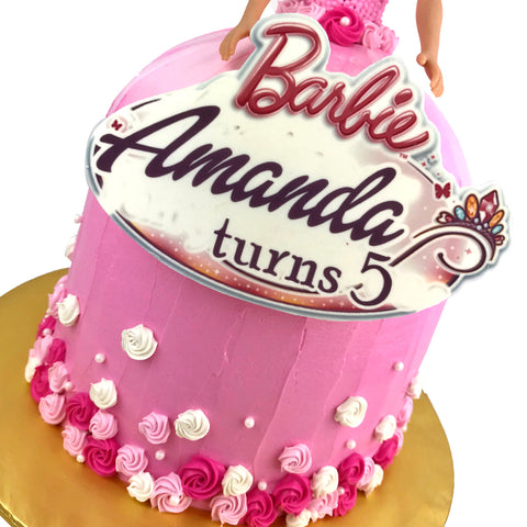 Barbie Sweet Roses Doll Cake