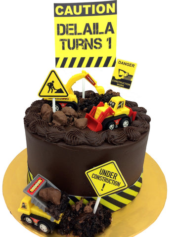 Construction Toy Cake