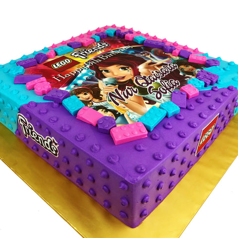 Lego Friends Square Cake