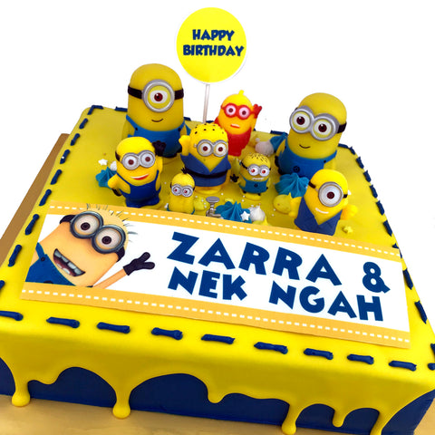 Minion Toy Square Cake
