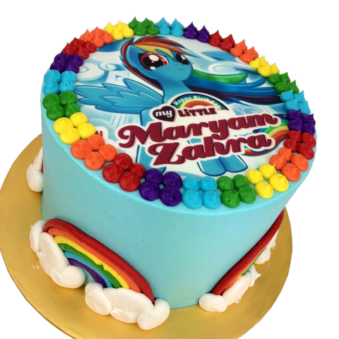 Rainbow Dash Pony Cake