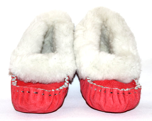 Red Moccasin Slippers