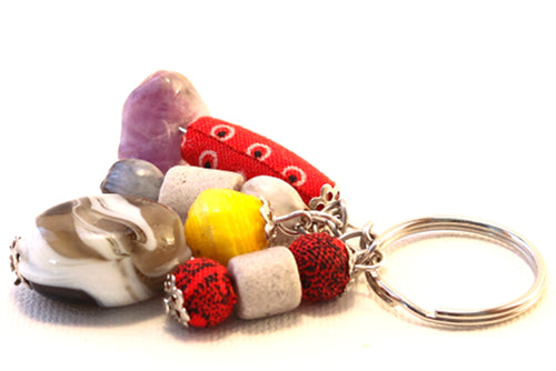 Multicoloured Beads Key holder