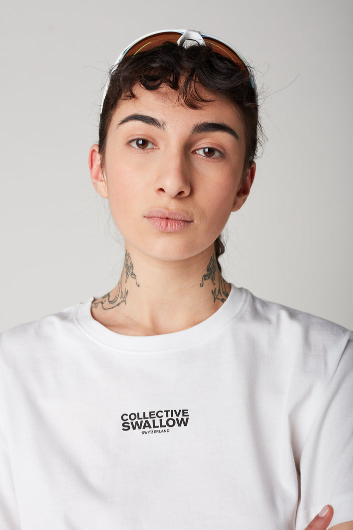 Collective Swallow Logo T-Shirt - White