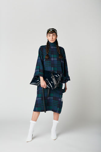 METZGETE FLANNEL OVERSIZED DRESS