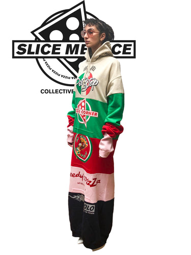 Slice Me Nice - Pizza Nostra - Hooded Sweater Dress