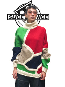 Slice Me Nice - Pizza Ortolona - Oversized Wool Sweater