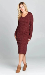 Curve Midi Sweater Dress
