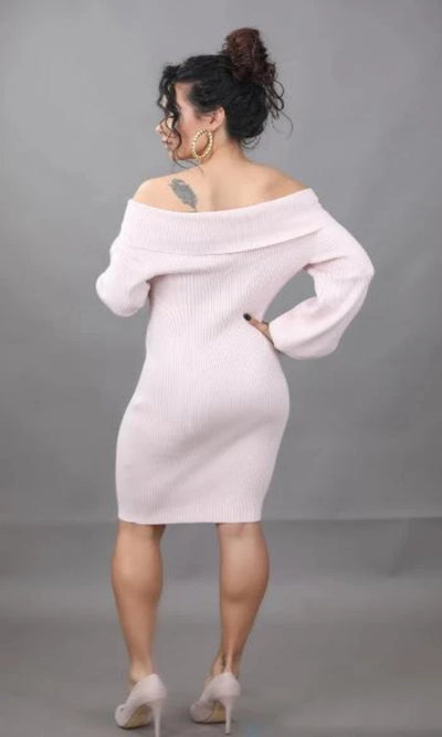 Pretty in Pink Off-the-Shoulder Dress