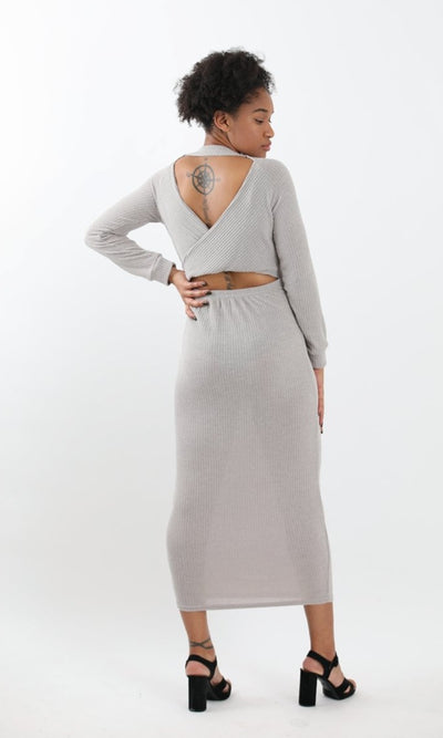 Women's 2 Way Gray Slay Long Dress