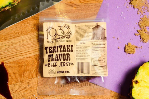 1933 beef jerky Teriyaki jerky made in Bakersfield, CA number one jerky