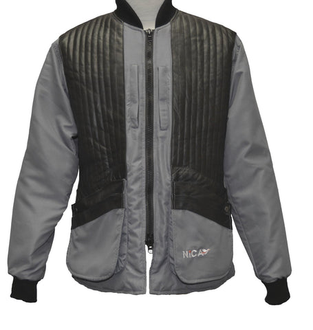 NICA leather shooting jacket grey