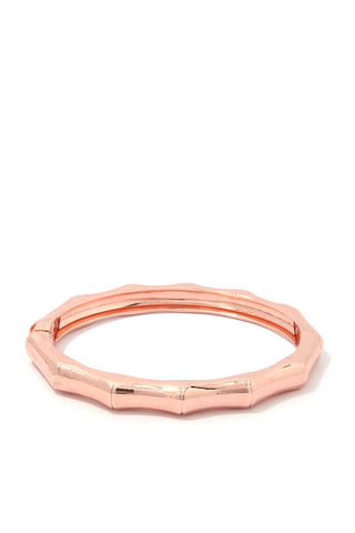 Bamboo Shape Metal Bangle Bracelet