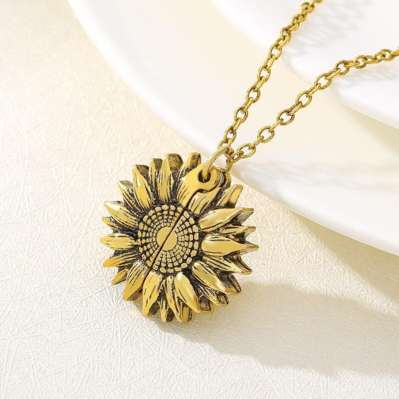 "Collier avec Pendentif ""You are my Sunshine"""