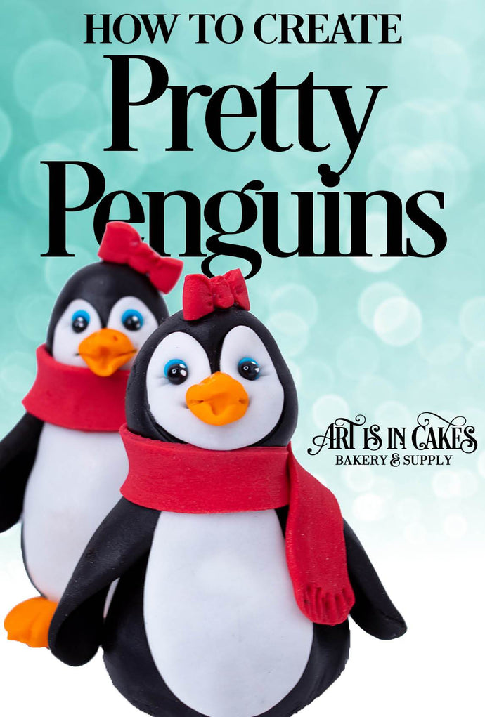 Create These Edible Fondant Penguins Today!