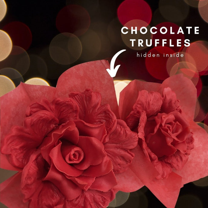 Truffles and Strawberries as Roses - But all 100% Edible!
