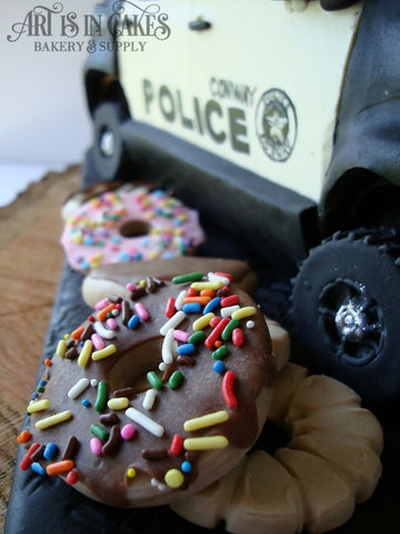 Donuts and Police Cruiser Cake