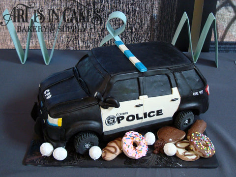 Police Cruiser with Donuts Cake