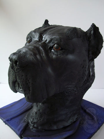 3D Italian Mastiff Dog made entirely of chocolate cake